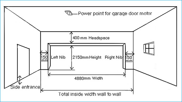 Standard garage door sizes australia ppi blog for Garage door opening dimensions